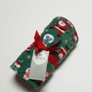 Carter's Green Santa Fleece Baby Blanket
